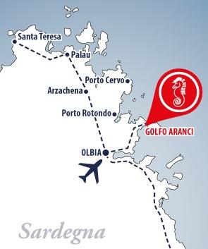 mappa golfo aranci residence